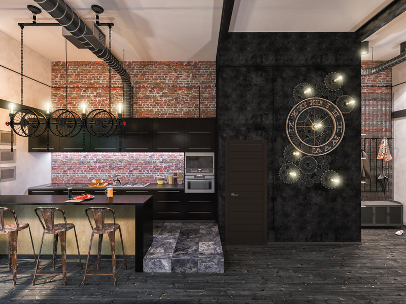 5 conseils pour une cuisine dans un loft iterroir. Black Bedroom Furniture Sets. Home Design Ideas