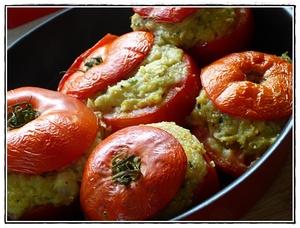 Tomates farcies la brandade de morue et p te d 39 olives vertes recette iterroir - Cuisiner des tomates vertes ...