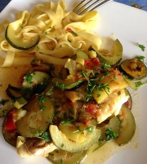 Filet de cabillaud courgettes et tomates recette iterroir - Cuisiner des dos de cabillaud ...