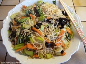 Nouilles chinoises saut es au pak cho recette iterroir - Cuisson pak choi ...