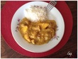 Poulet à la mangue et au curry