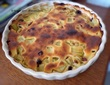 Clafoutis rhubarbe et cranberries